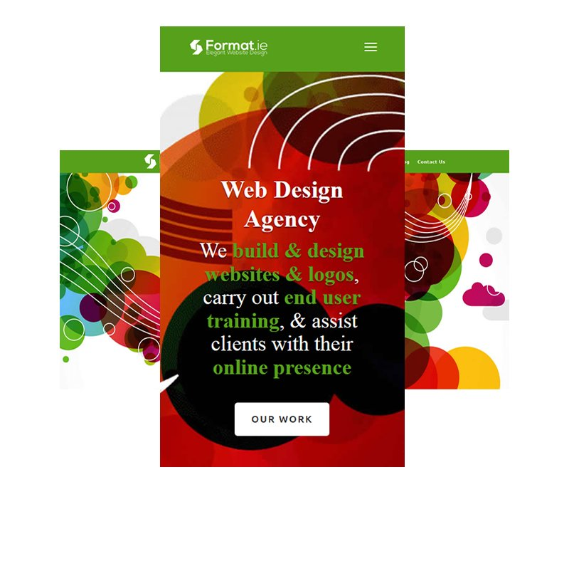 Format website homepage on pc and mobile