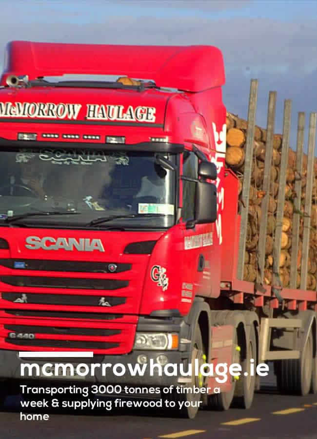 McMorrow Haulage Truck with logs