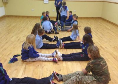 Cubs playing ladders in Benwiskin centre