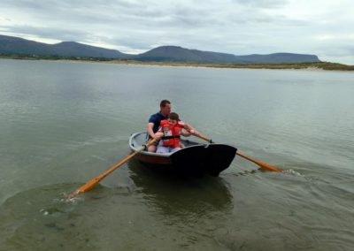 Jon Lomax teaching beaver to row in Mullaghmore