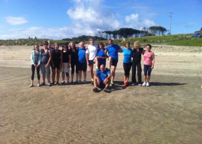 Tralua Trail Running posing for photo on Mullaghmore beach
