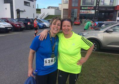 Lisa Lomax and Therese Orme after Bundoran Cara Run