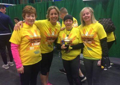 Ladies posing for photo after Dawn to Dusk run Sligo