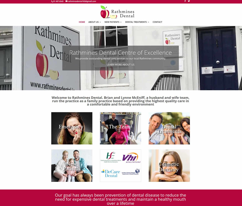 Rathmines Dental Practice Website Screenshot by Format.ie