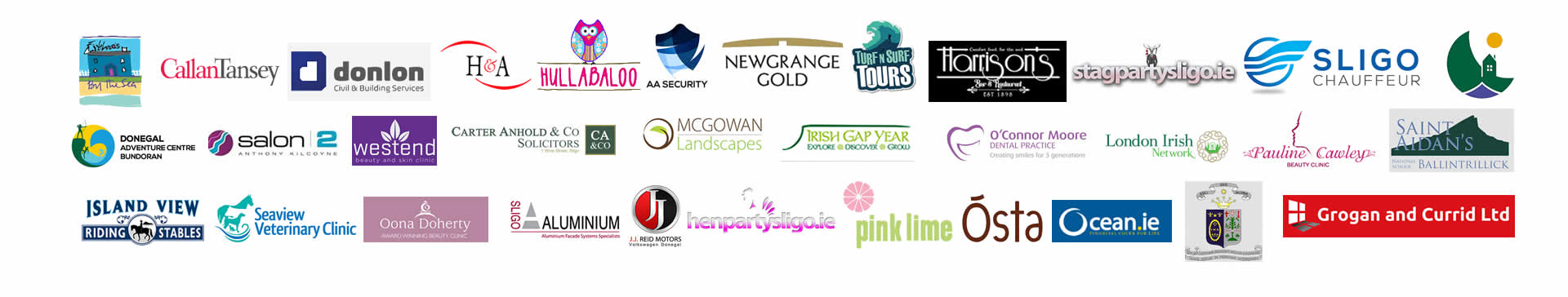 FAQs with logos of current clients of Format.ie