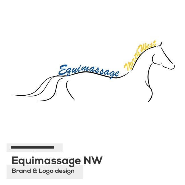 Logos for Equimassage for Facebook and clothes